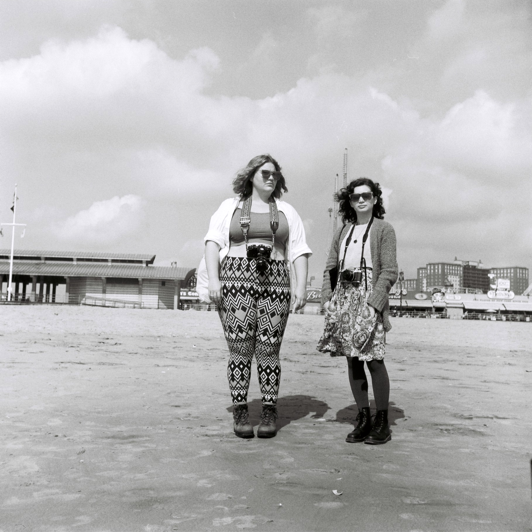 Margaret and Liz at Coney Island