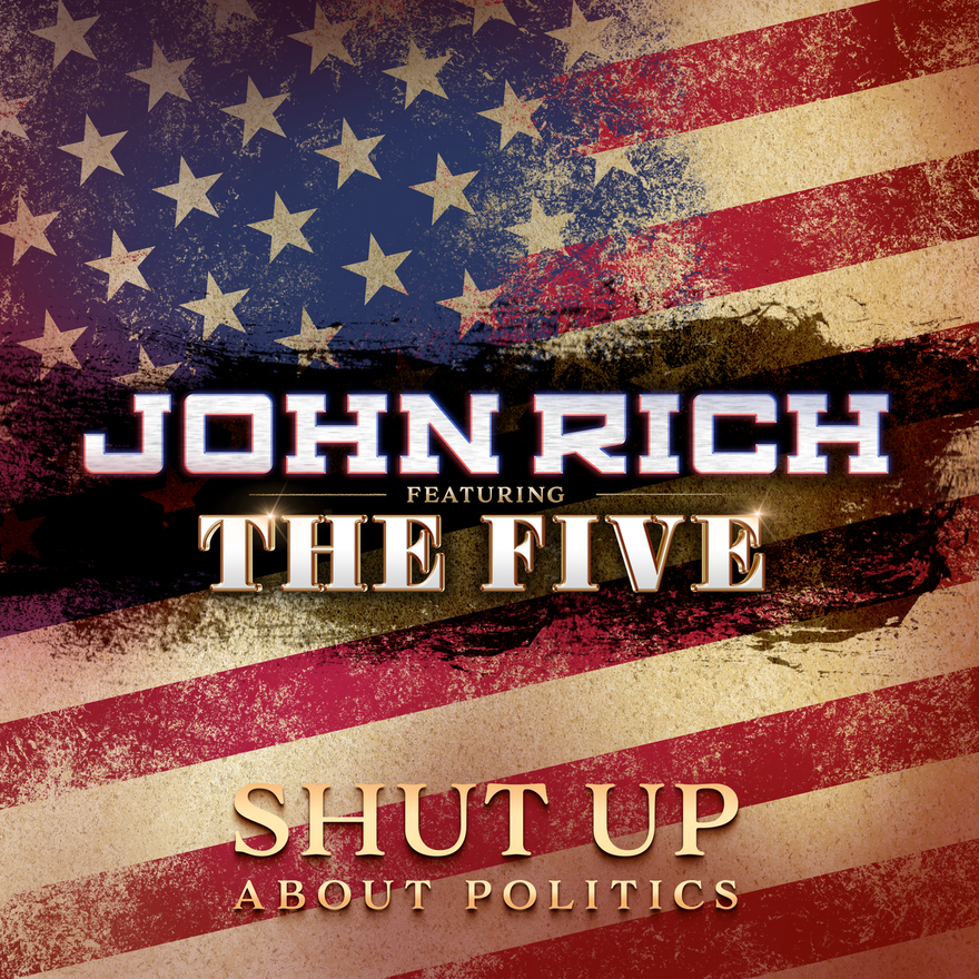 """John Richhas written thousands of songs, but""""Shut Up About Politics,""""is the first songwriting credit that Fox News host Greg Gutfeld can now add to his resume. All proceeds from the single will be donated to Folds Of Honor . By end of 2018, Redneck Riviera Whiskey had paid for over 44 college scholarships through the Folds of Honor program. Rich will make the media rounds on Thursday, May 30 to discuss the just released light-hearted """"Shut Up About Politics,"""" his newly launched Granny Rich Reserve whiskey now in 12 states, plus upcoming CMA Music Fest week.   Tune in:  THURSDAY, MAY 30FOX AND FRIENDS - Airing 8:00 a.m. EST on Fox News   BRIAN KILMEADE RADIO - 'Live' at 9:30 a.m. EST on Fox News Radio   OUTNUMBERED - Airing at Noon EST on Fox News  THE FIVE - Airing at 5:00 p.m. EST on Fox News - debut of """"Shut Up About Politics""""""""  SHUT UP ABOUT POLITICS"""" IS AVAILABLE FOR DOWNLOAD HERE"""