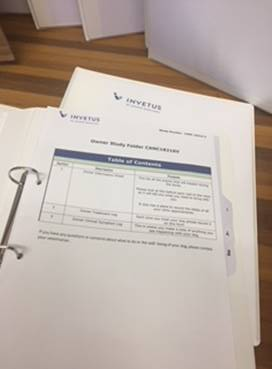 Index page of patient folders