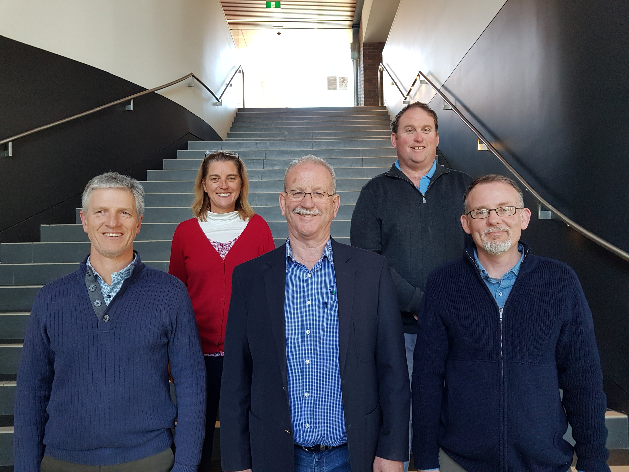 Invetus Leaders (L-R): Graeme Hollis (Finance & Admin), Elizabeth Evans (Business Development), Maurice Webster (Managing Director), Henry Chambers (Research Support), Mike Gieseg (Research).