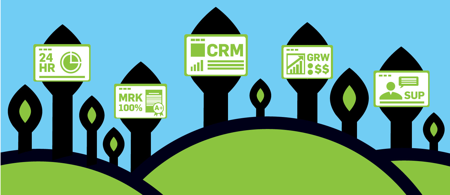 Project management is built on a proven step-by-step process with dedicated CRM access and online support tools.