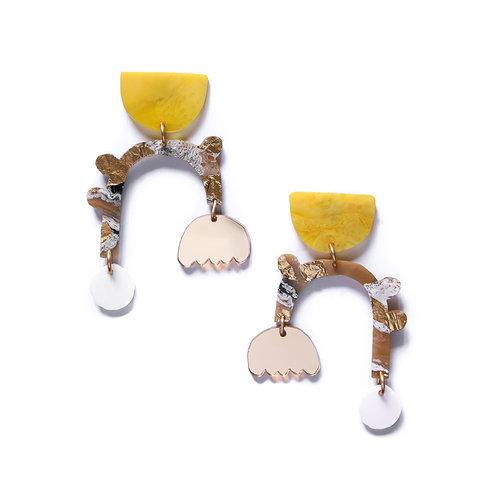 Mustard & Latte Earring
