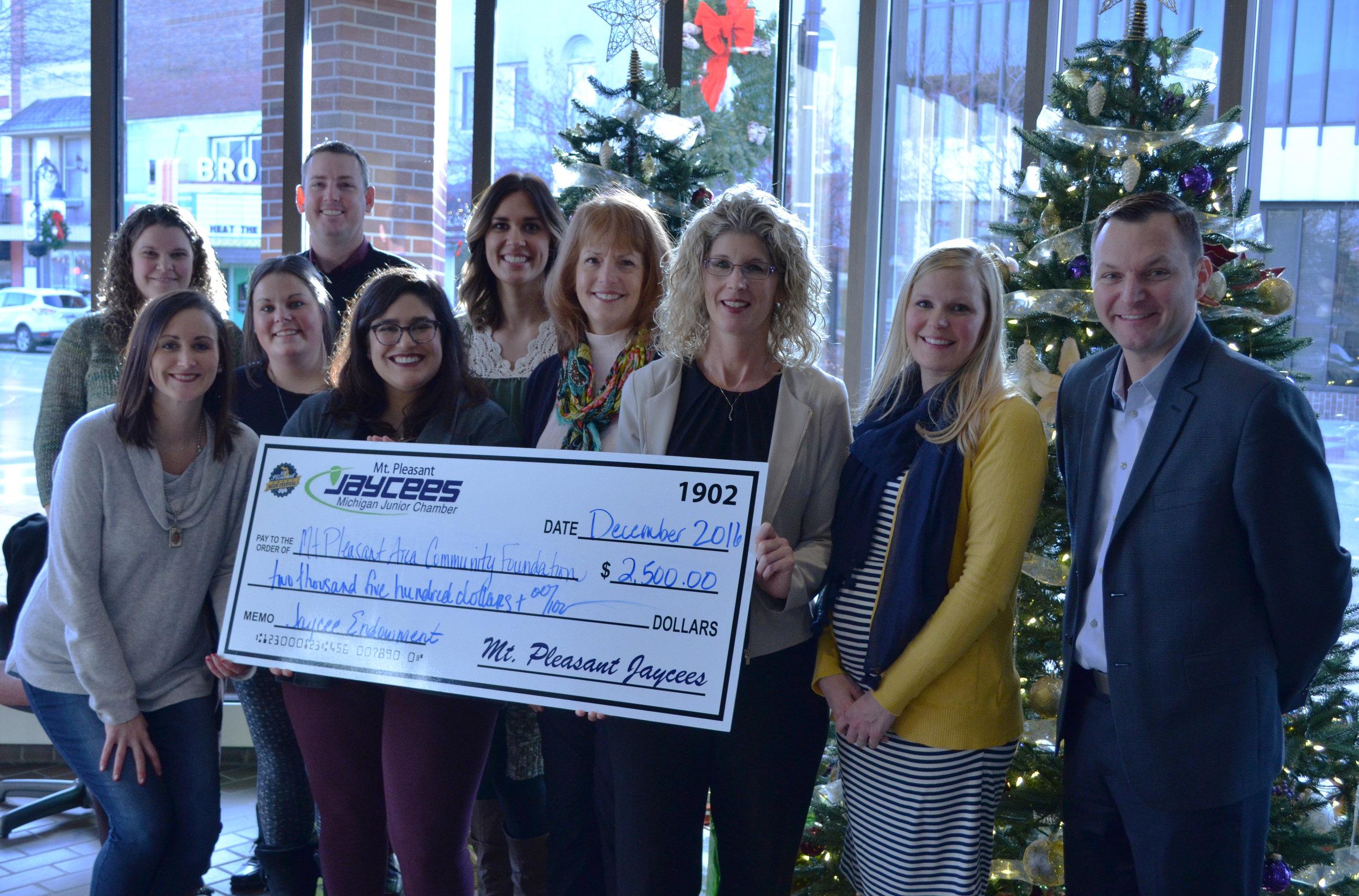 Mt. Pleasant Area Community Foundation - Jaycees Endowment