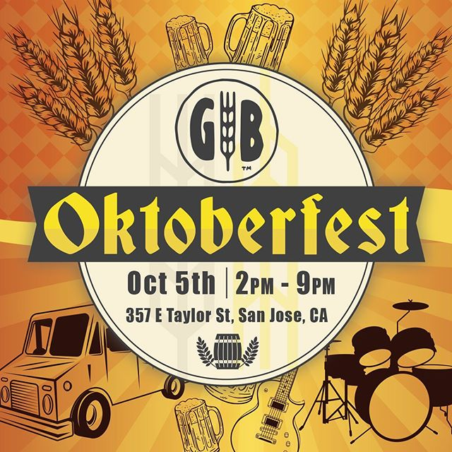 Miss the Taylor Street Night Market vibes? Come celebrate Oktoberfest 2019 at the Gordon Biersch Brewery in San Jose's Japantown neighborhood on Sat, Oct 5th from 2-9pm. Plenty of food trucks, live music, games, of course brews! Free admission, family-friendly event!