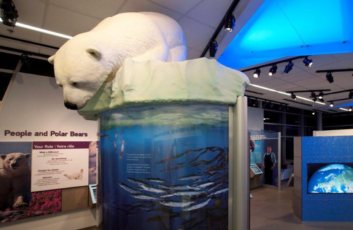 Life size polar bear, Assiniboine Park Zoo