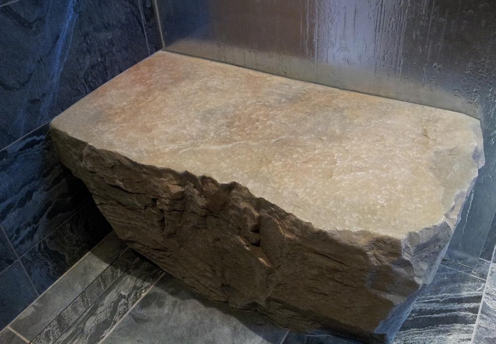 gfrc artificial rock Shower Bench