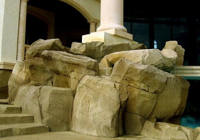 Shocrete artificial rocks