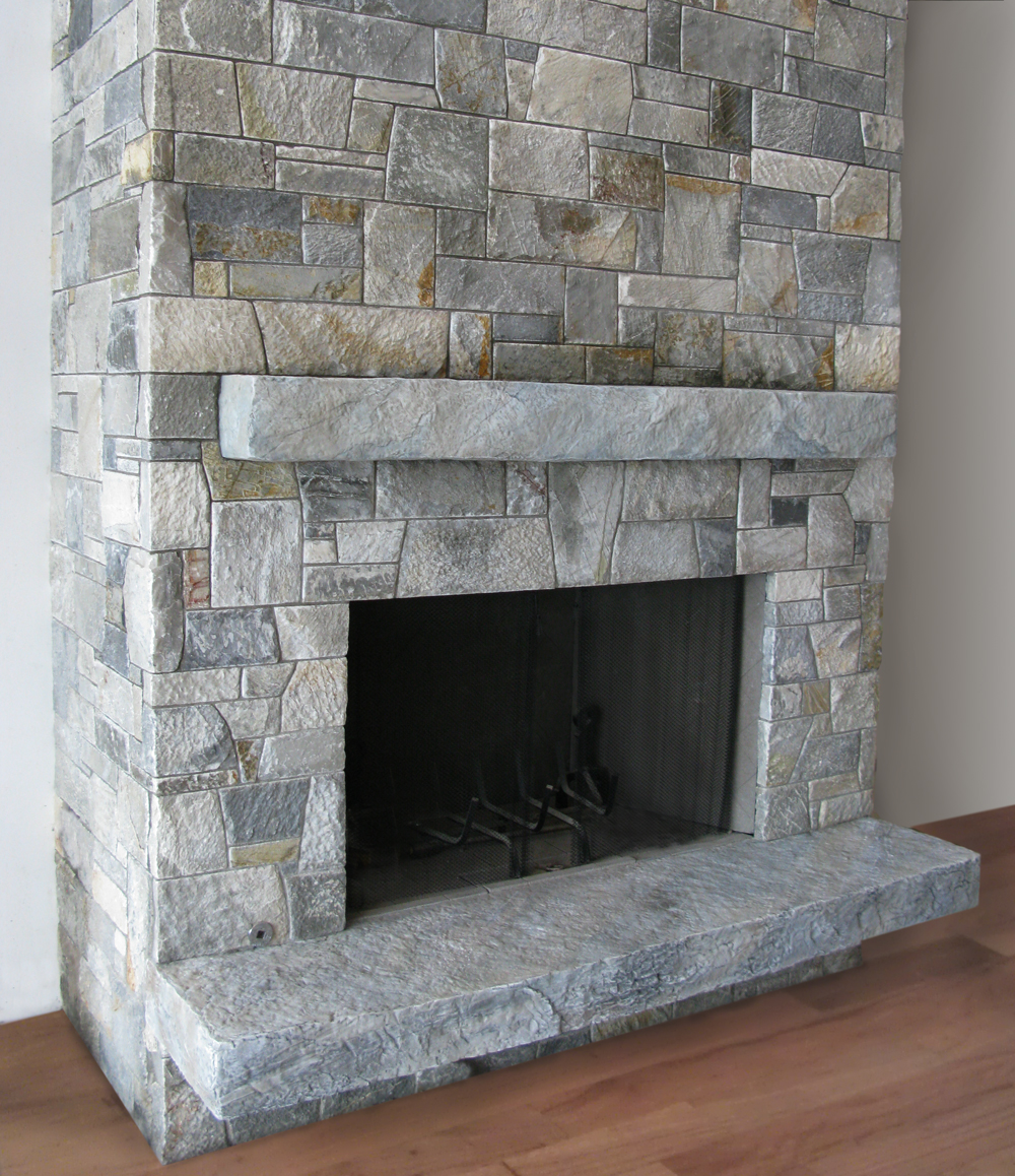 artificial rock fireplace