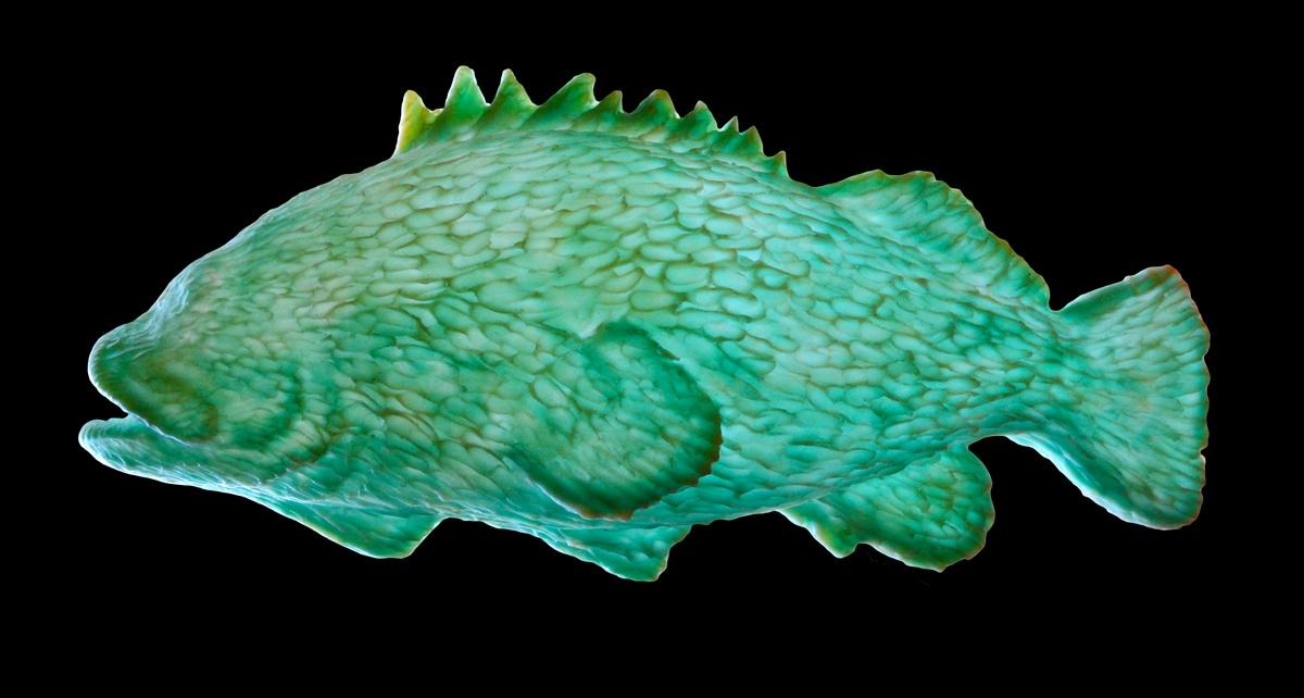 Translucent fish sculpture