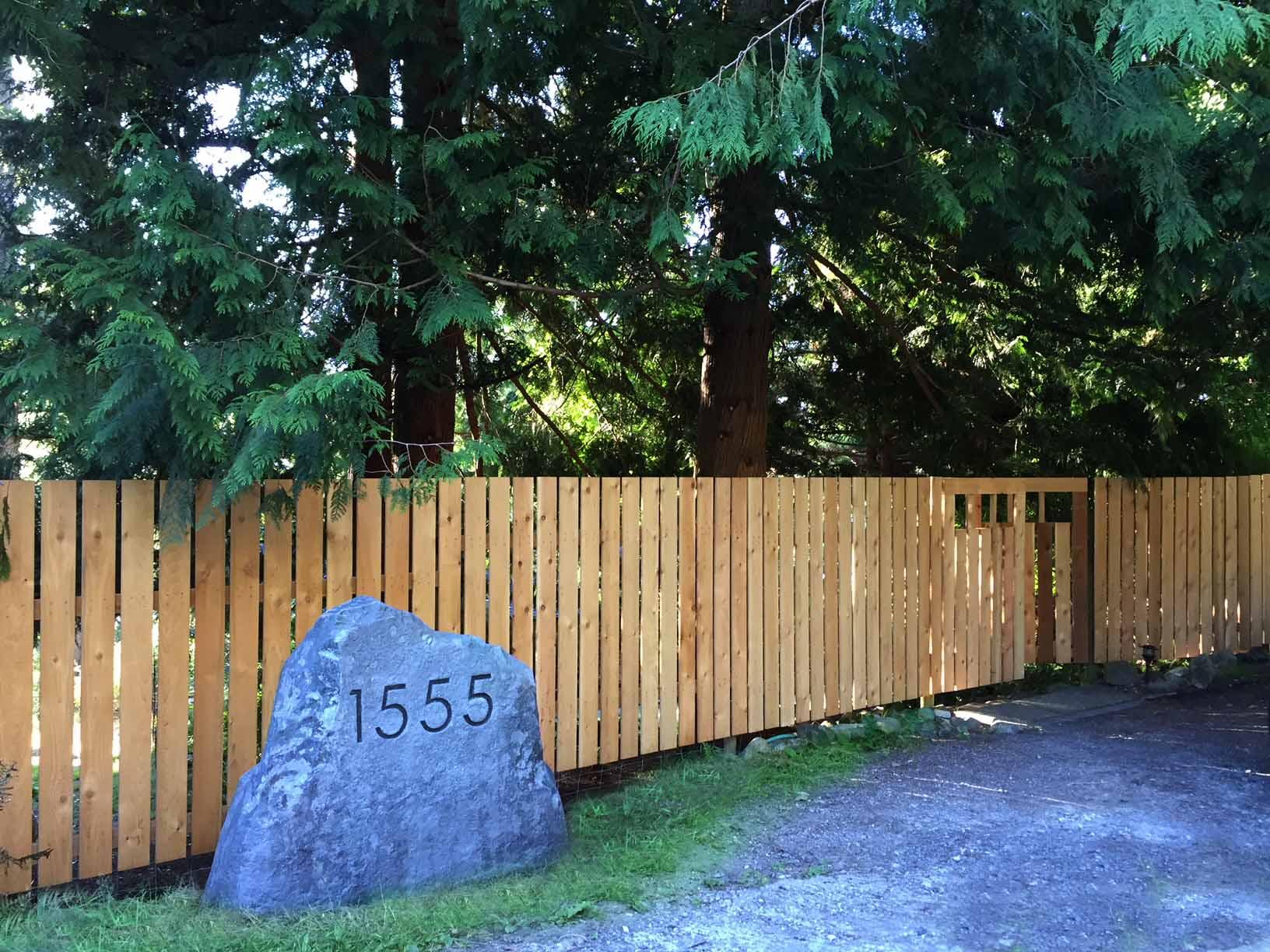 Custom aged granite address rock