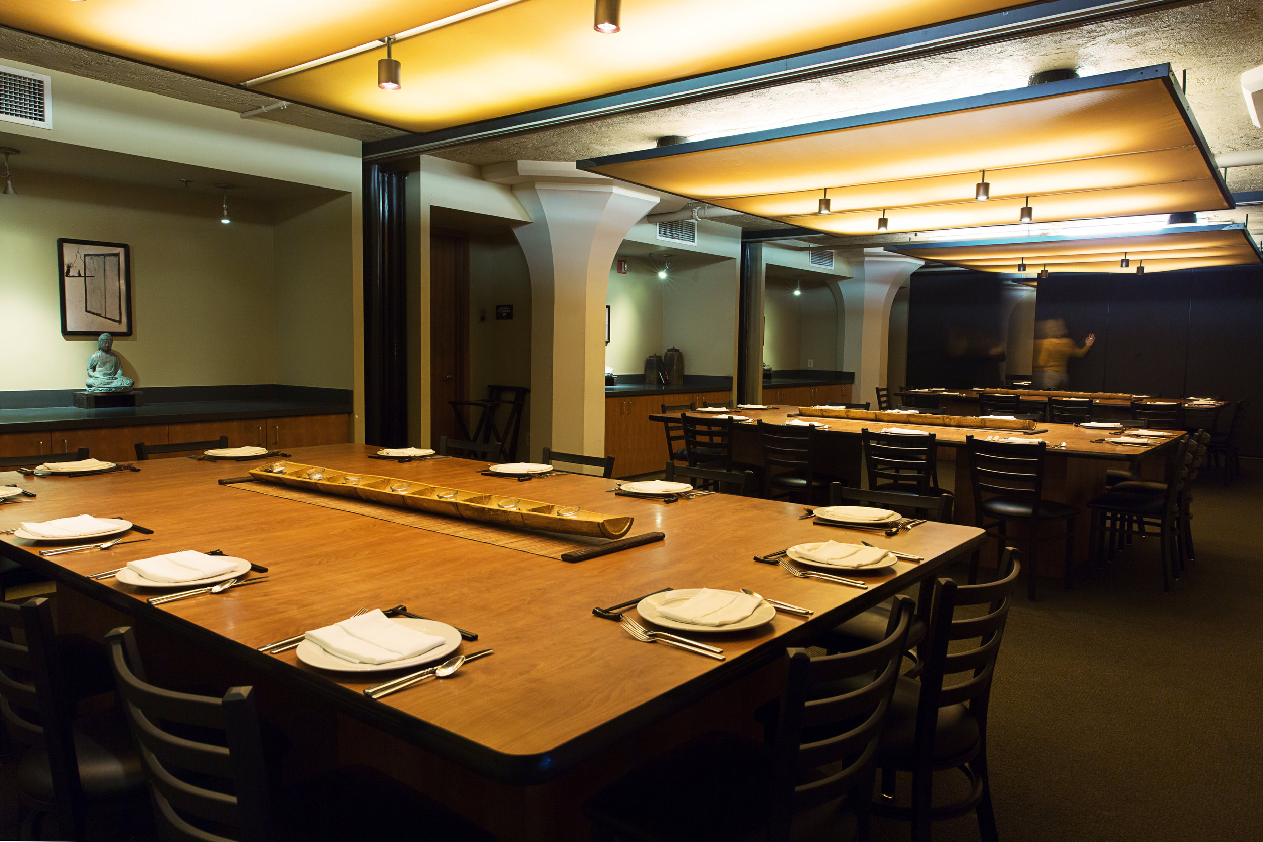 Mezzanine Rooms - Reserve 1, 2, 3, or 4 rooms based on your needs1 Mezzanine Room = 16 seated 2 Mezzanine Rooms = 32 seated | 25 standing3 Mezzanine Rooms = 48 seated | 45 standing4 Mezzanine Rooms = 64 seated | 55 standing