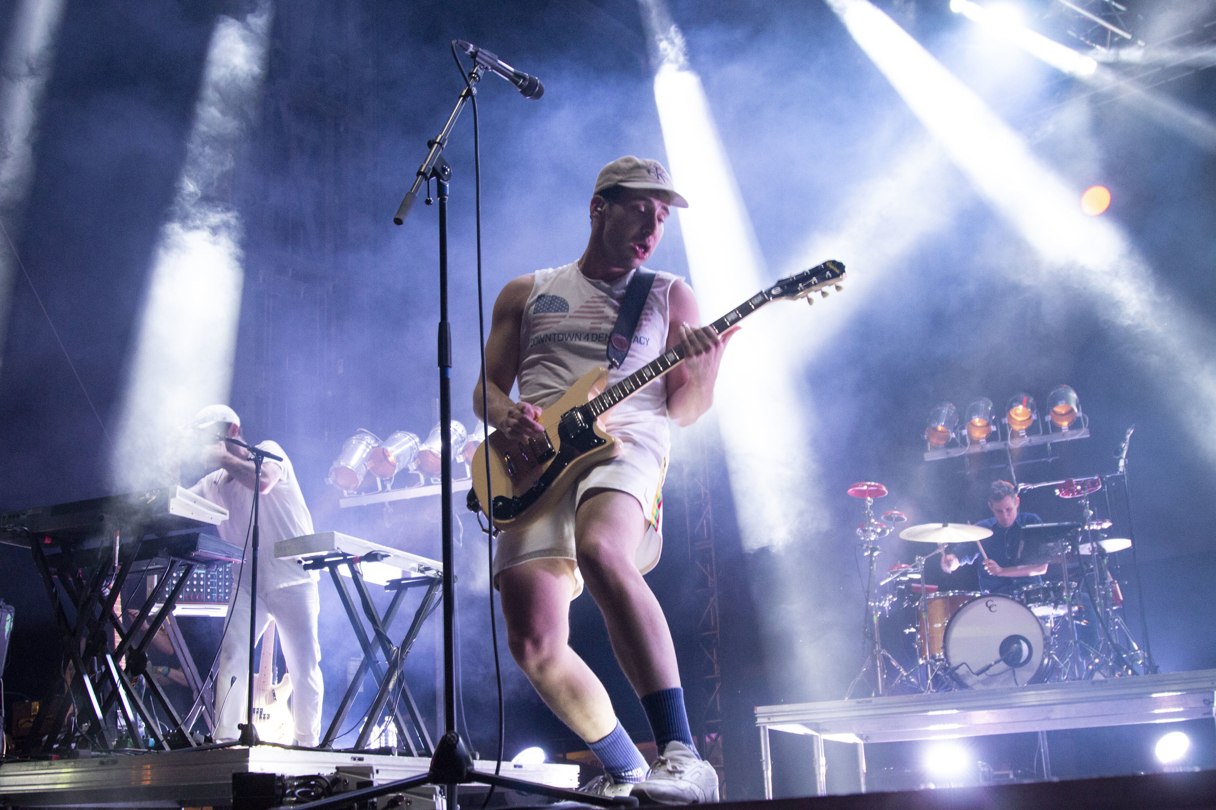 "New York-based Bleachers' lead singer and guitarist Jack Antonoff jumped around stage and charmed the audience as Boulevardia's Saturday night headliner. Antonoff sang the group's crowd favorites such as ""I Wanna Get Better"" and ""Don't Take The Money."""