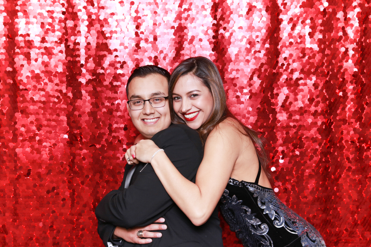 Ruby Red Sequin 5050 Photo Booth