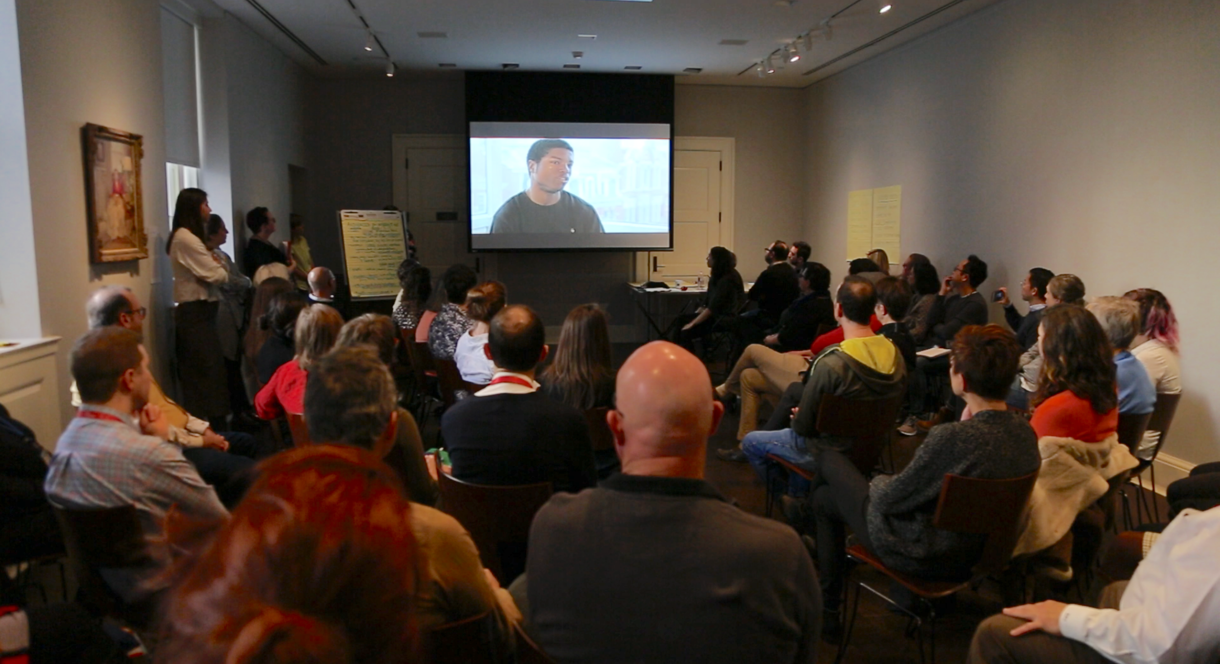 Video Screening at All-Staff Dialogue, RISD Museum.