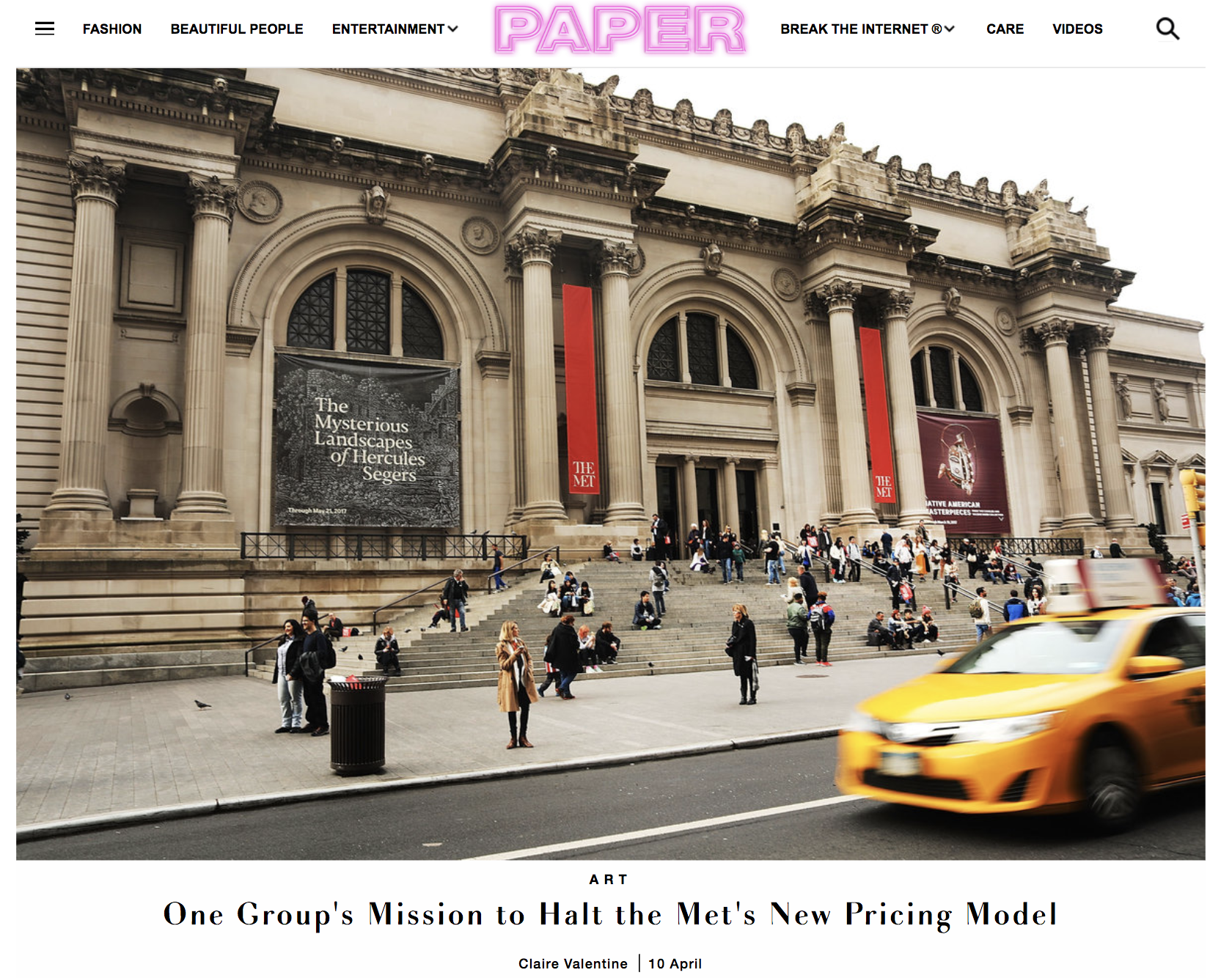 Paper Magazine, April 2018 - Paper Magazine covers our collaborative project with Hello Velocity, Equitable Met in