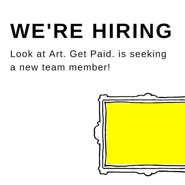 💥WE'RE HIRING💥 We're partnering with the Massachusetts Cultural Council to launch Look at Art. Get Paid. across 3 art museums in MA over the next 2 years. We're putting out feelers for a new team member based in the Boston area who excels in management and administration. If you're interested, please email your resume to ruby@lookatartgetpaid.org and we'll follow up soon with more information! . . To learn more about Look at Art. Get Paid. go to link in bio. www.lookatartgetpaid.org
