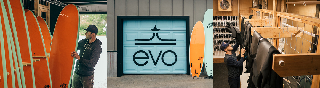 evo surfboard and wetsuit rental at the loge at the sands in westport