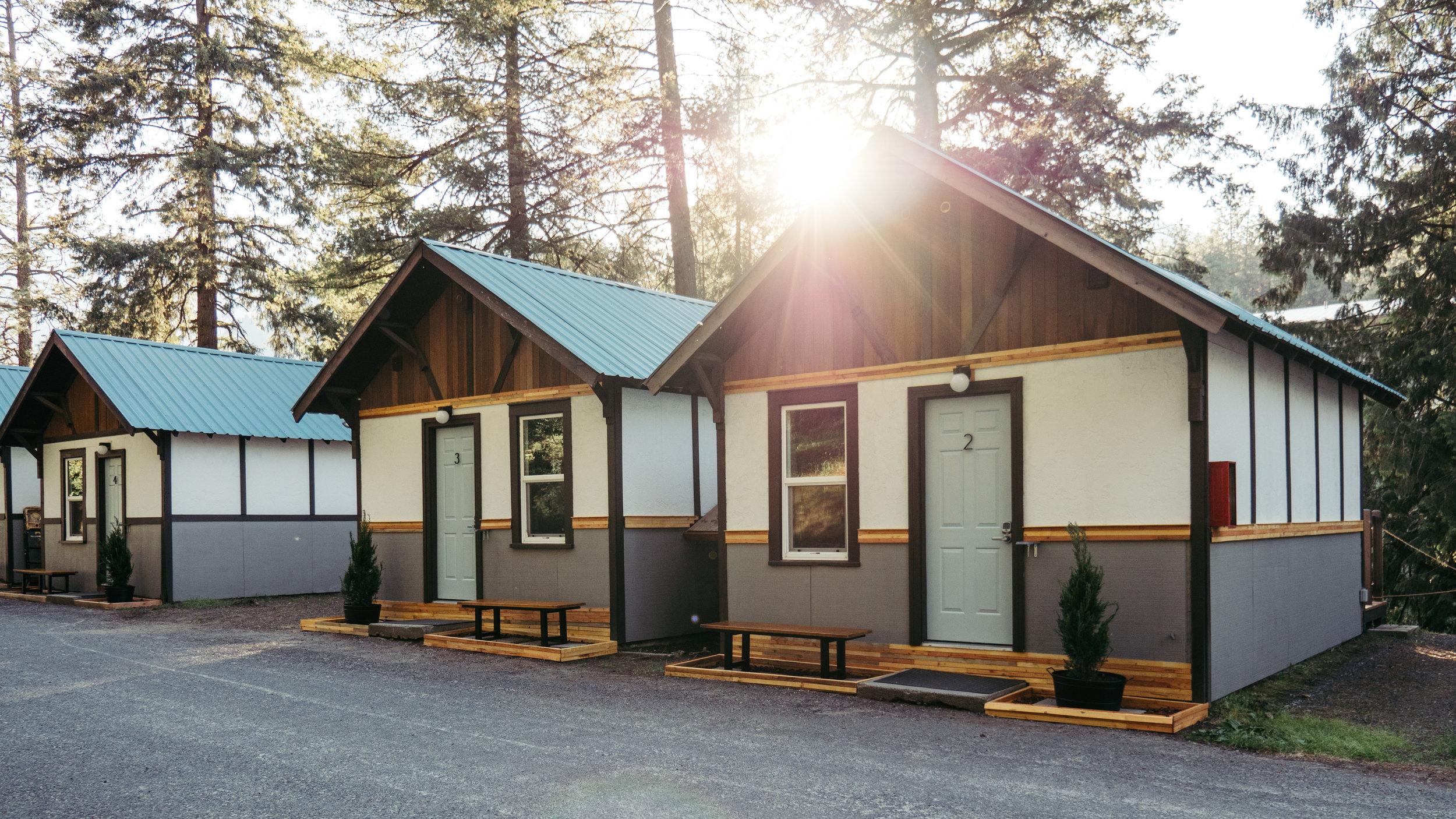 Cabins at LOGE Leavenworth, WA