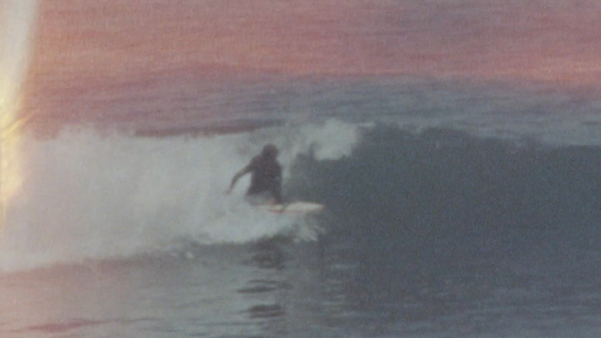 surfer catching some waves in westport during the odd season
