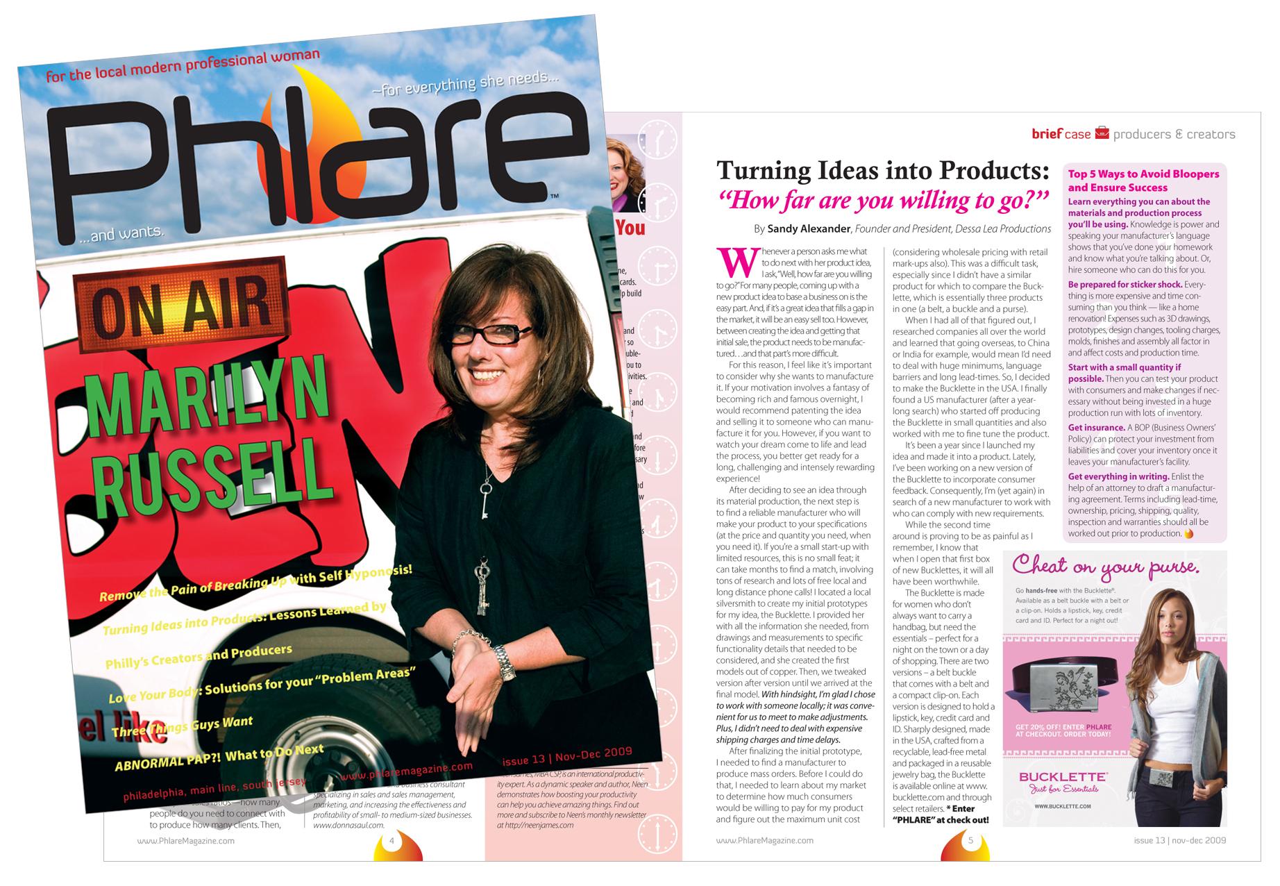 Bucklette Mag PHLARE press.jpg