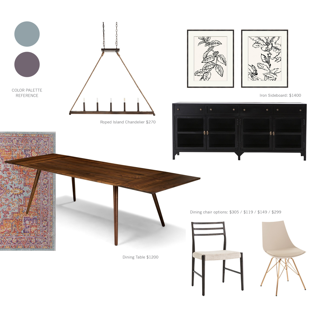 Dining Room Design Mood Board