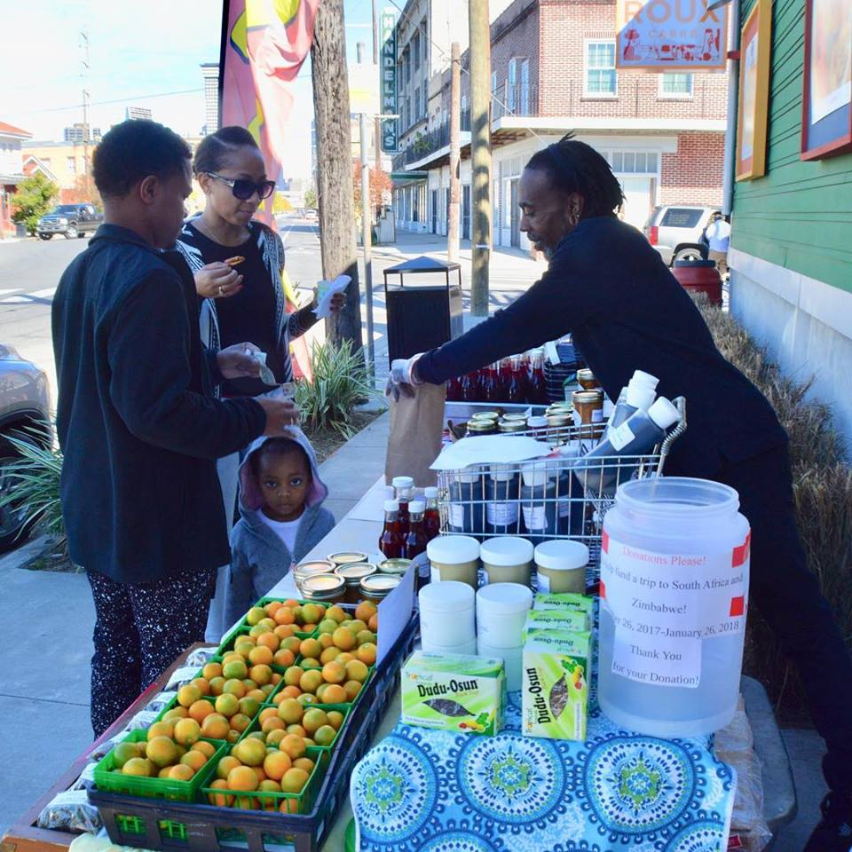 There were plenty of home made health products at the Fair like Mr. Kevin's fresh hibiscus juice, jams, soups, fruits, soaps and more. Photo credit: Roux Carré