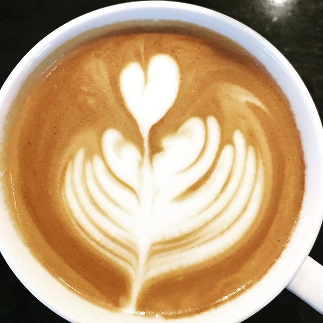 Do you see two faces kissing under the heart? Celebrate #pride this weekend. #loveislove #coffee #latteart #latteartist