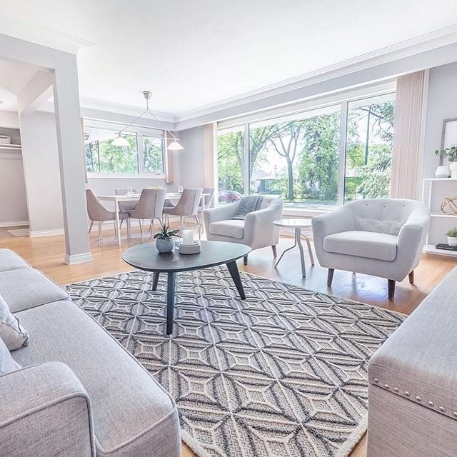 staging can benefit the sale of your home by helping potential buyers envision how they can use the space! swipe to see before. 📸: @tysonjamesphoto
