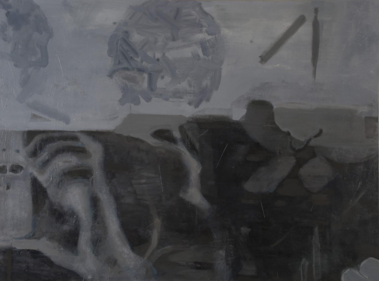 "Rotary , 2017, 50"" x 68"", Oil on Canvas"