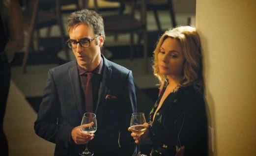 Don McKellar & Kim Catrall in HBO Canada's  Sensitive Skin.