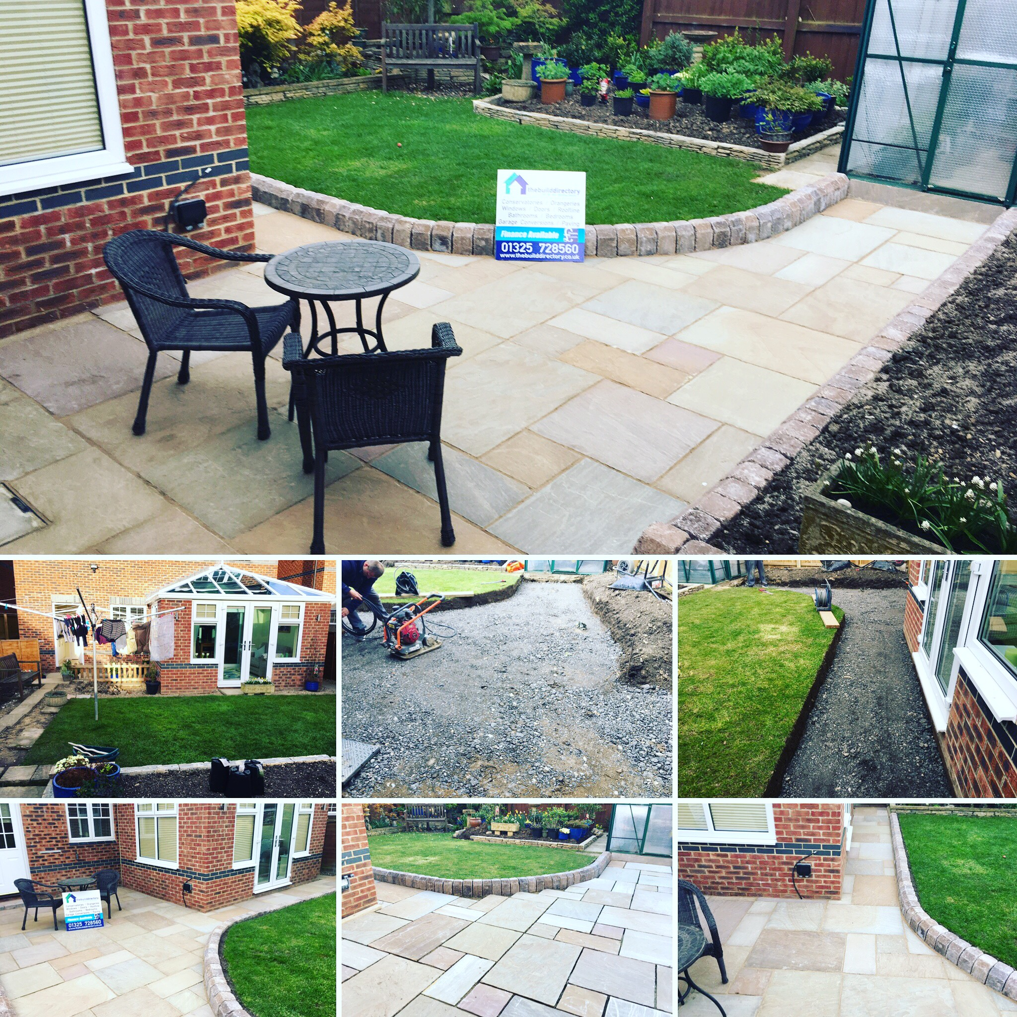 Using Rustic giant kerbs th team have been able to split level the garden for a consistent path, the garden is now bright and spaces with dining area and connective walkways.      We have also connected power from the house to the green house with armoured cable to provide additional power descreatley. Very pretty!! Well done team and thanks for looking after them Mr&Mrs Customer for the repeat loyal business!