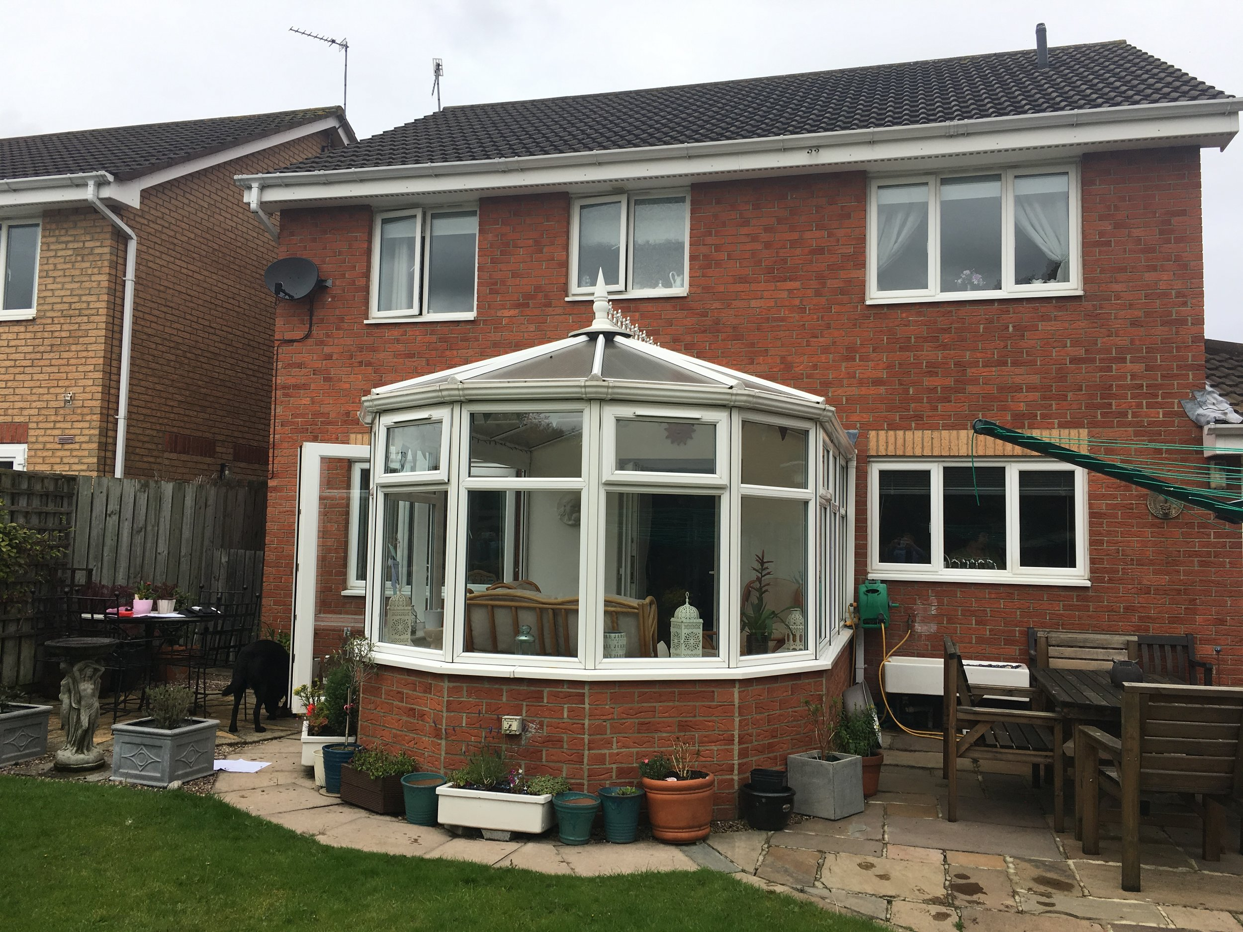 Before the Conservatory with a polycarbonate roof that was noisy, and got too hot in summer  and too cold in winter!