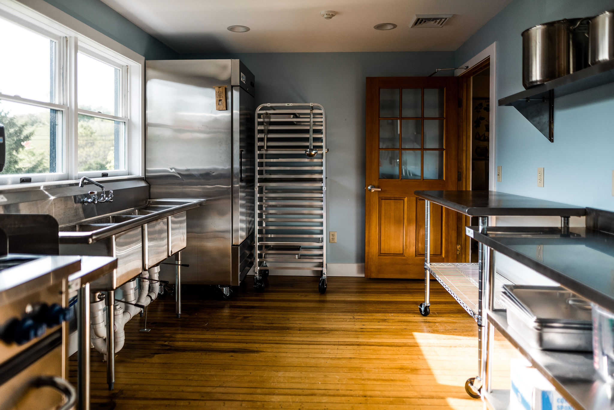 a community kitchen available for producers to process the bounty of the season