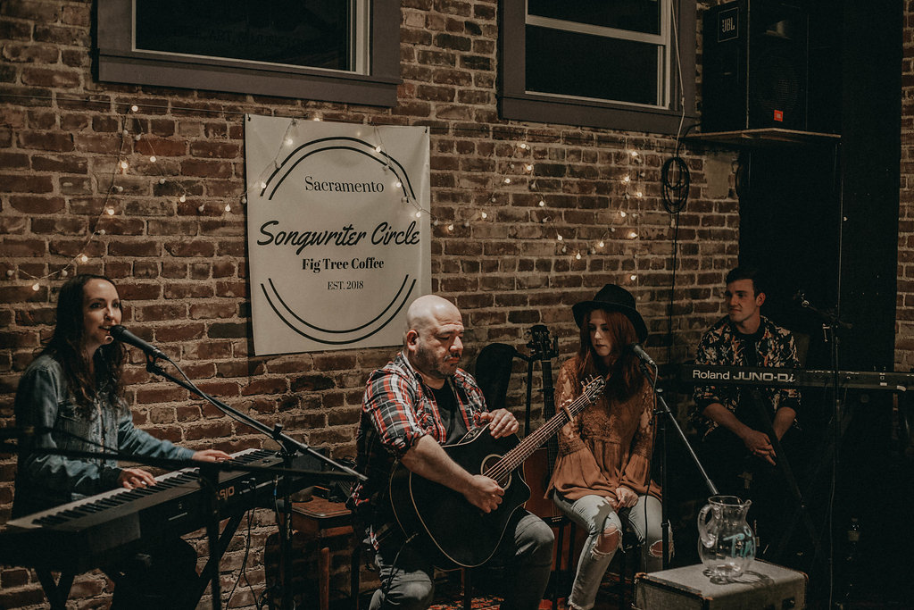 Sacramento Songwriter Circle Event at Fig Tree Coffee!