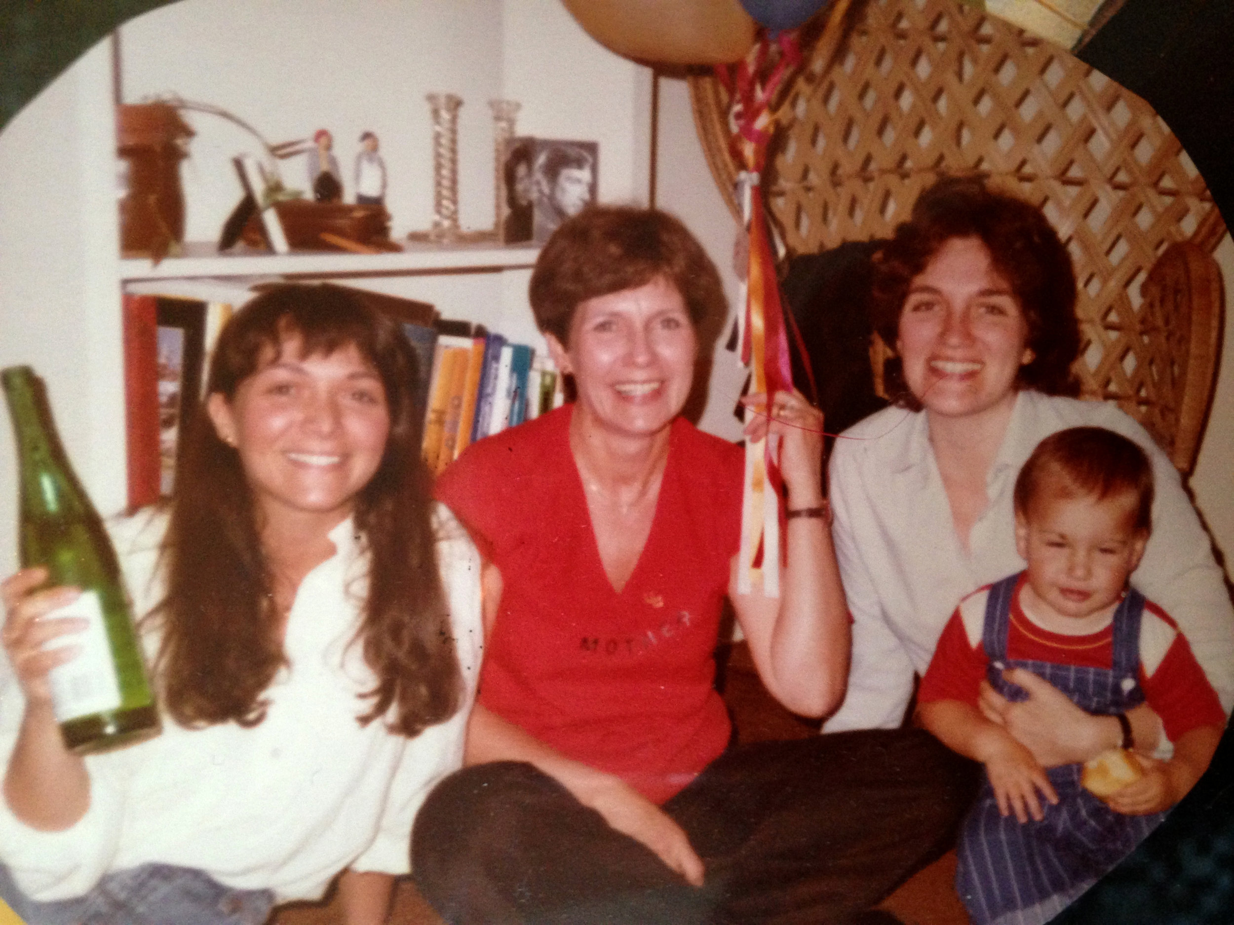 The Bernstein Women circa 1980 (left to right): Ellen, Miriam, and Susan (also featuring my brother Aaron in his toddler years)