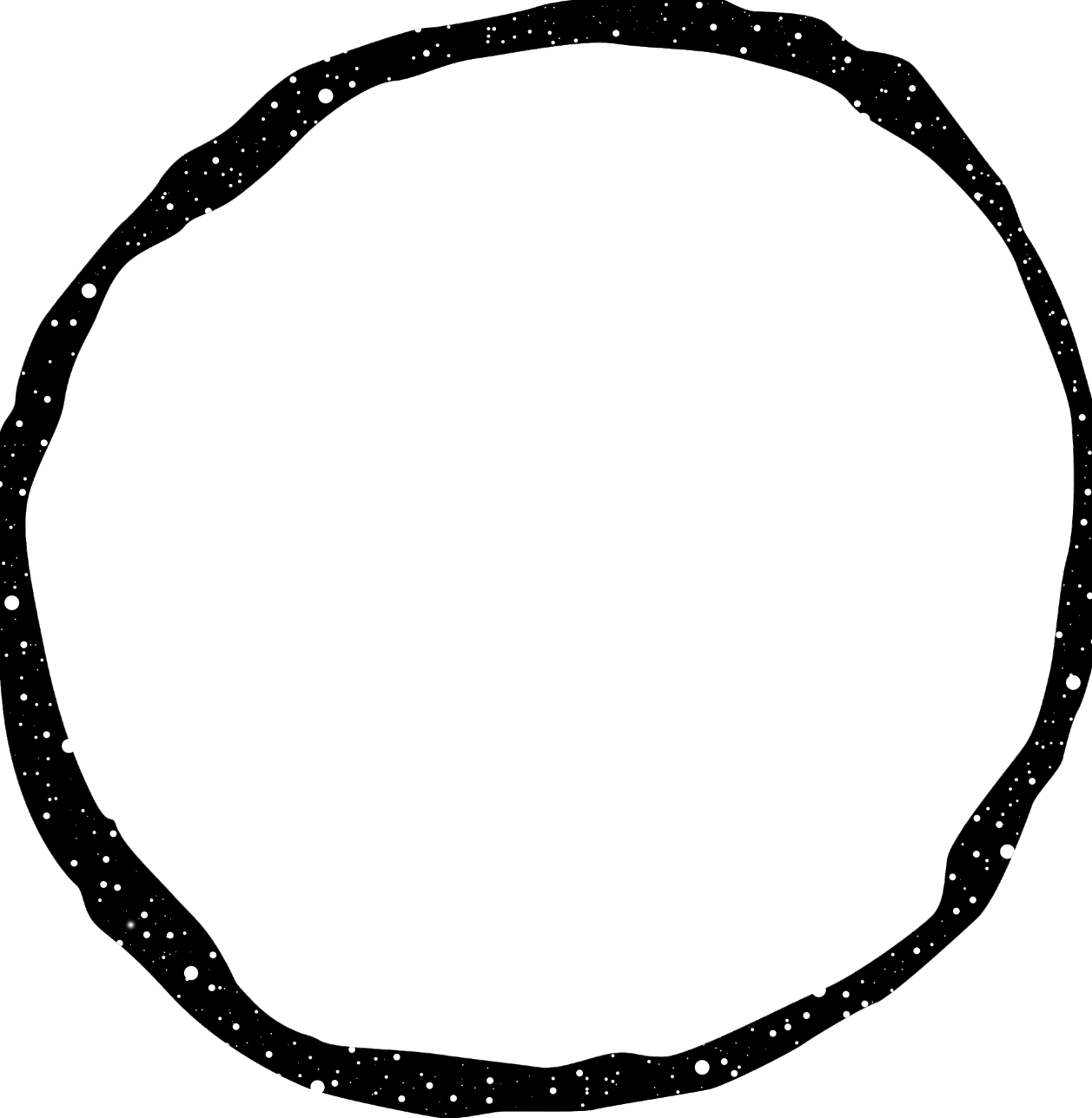 The image above will be burned onto a silk screen. Using print techniques,the black space above will transform into purple and navy blue celestial sky.