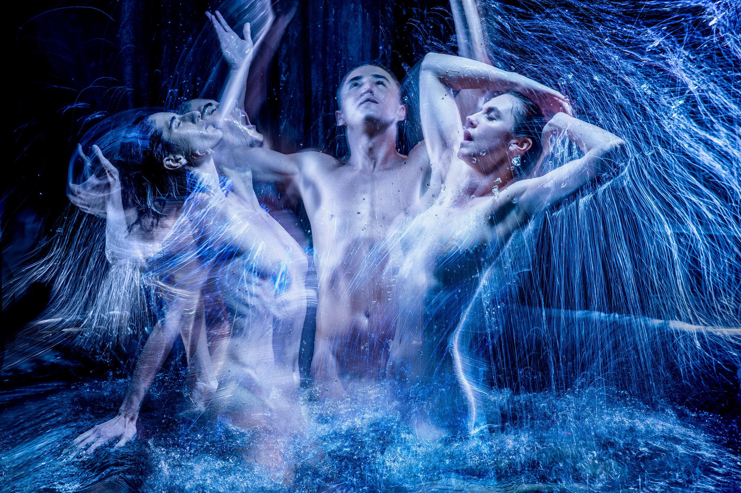 Diana Popovska, Ben Gerrard & Hannah Raven in Metamorphoses by Mary Zimmerman. Copyright John Marmaras 2018.