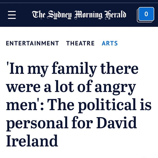 Head over to @sydneymorningherald to read an exclusive interview with CYPRUS AVENUE playwright David Ireland / Proudly presented by @empress_theatre