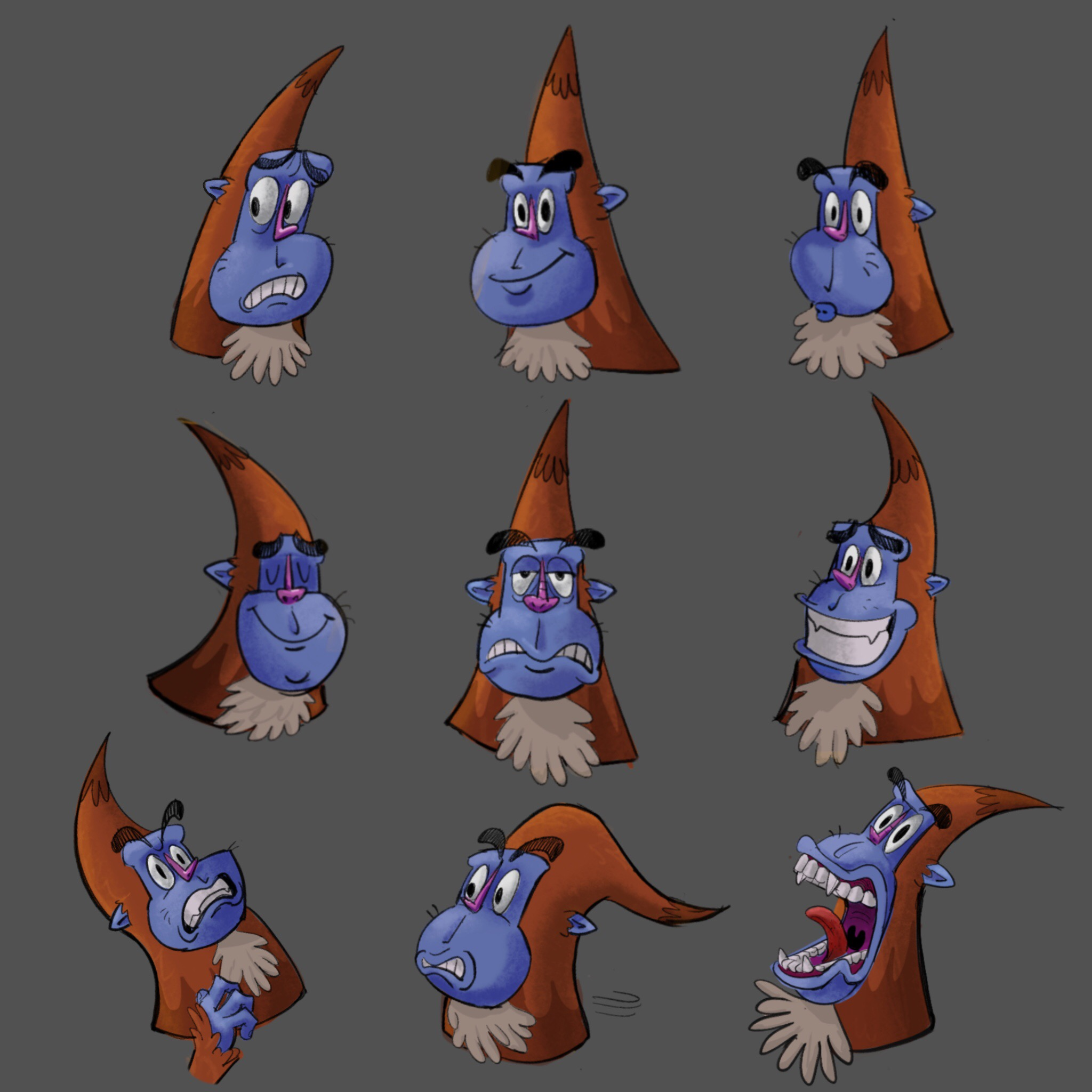 Sasquatch Character expressions.