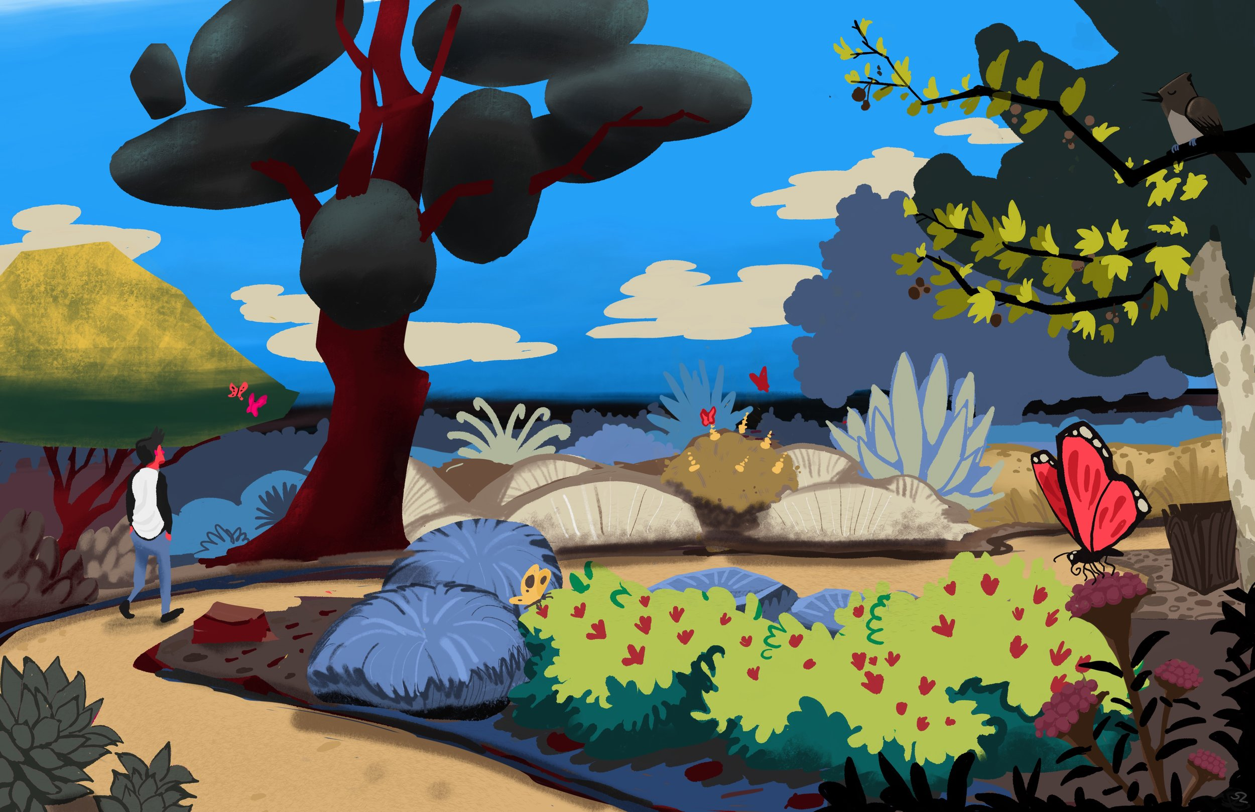 """The Nature Garden"", 11x17"", digital. 2017"