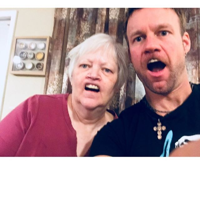 She probably will hate this picture but my mom could always hang! Really this super woman can do it ALL! Also, she's where I got these devilish good looks.🤣 Happy Mother's Day moms!❤️#happymothersday #bestmom #sunday #uglyfaces #coolmom