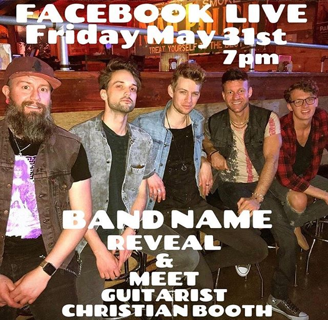 Tonight we announce the new band name and you get to meet one of our cool new guitarists @christianmbooth. Come ask questions! #bands #fridayvibes #freakyfriendfriday #nashville #rocknroll #musiciansofinstagram #newmusic