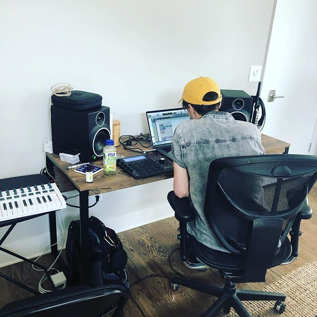 Dad hat is hard at work making baby makin sounds. #summer #synthesizer #dadhats #🔥 #rock #pop