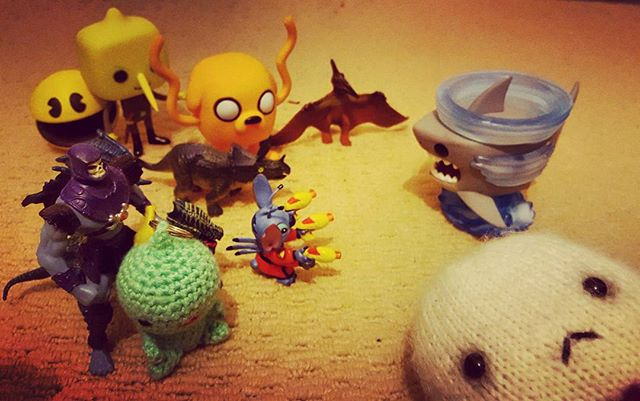 4/4 Sharknado stop your antics you are surrounded!!! #kawaii #sharknado #toy #happy #dinosaurs #pacman #unacceptable