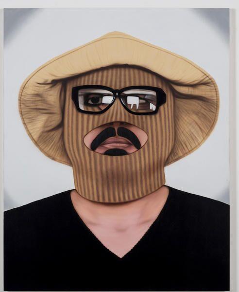 """Mario Ybarra Jr.,""""Invisible Man...,""""2012, acrylic on canvas"""