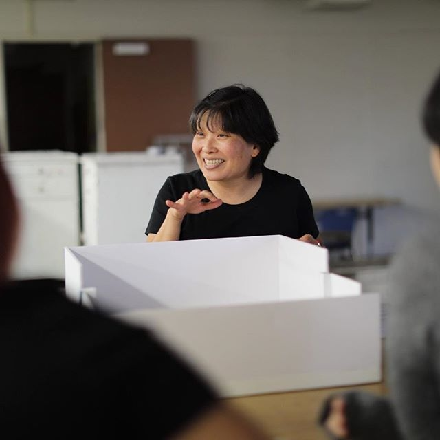 """Yoshie Sakai, 2018/2019 PRAXIS Artist-In-Residence building a scale model of the @csudhgallery for her upcoming solo exhibition """"KOKO's Neighborhood"""" with @csudh.art.design students! Thanks to the Pasadena Art Alliance for supporting this project! _ @csudominguezhills @csudh.art.design #csudhpraxis #csudh #csudhartanddesign #yoshiesakai #artistresidency #artistinresidence #kokosneighborhood #exhibitiondesign #laart #laartist #losangelesartist #southla #southlosangeles #gardena #pasadenaartalliance"""
