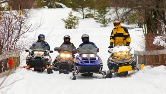 Club snowmobile trails