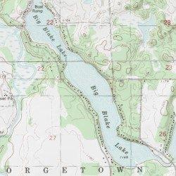 Big Blake Lake Map
