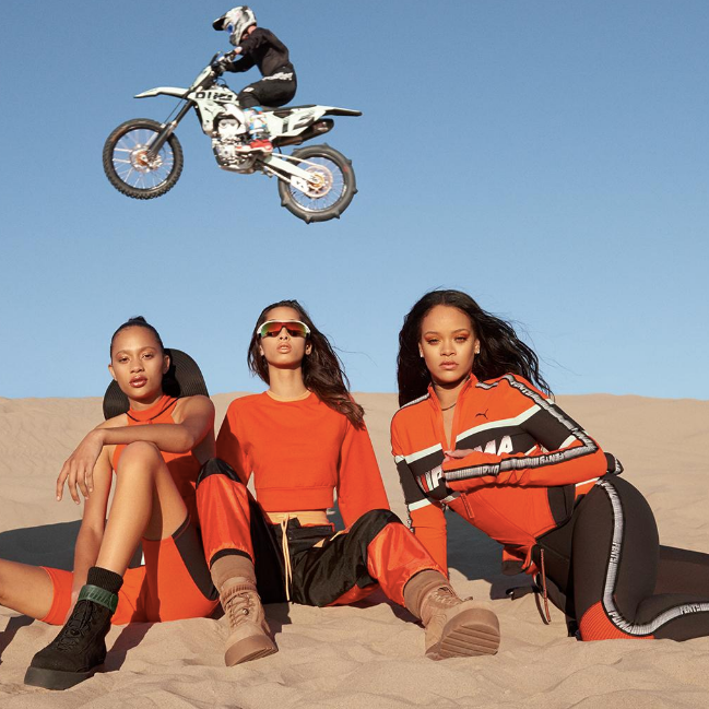 Fenty Puma SP'18  - At this point Rihanna is selling everything. Her Puma x Fenty SP'18 set the standard for the new sporty trend.
