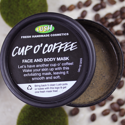 Cup O' Coffe - One of my favorite Lush products to use when exfoliating.